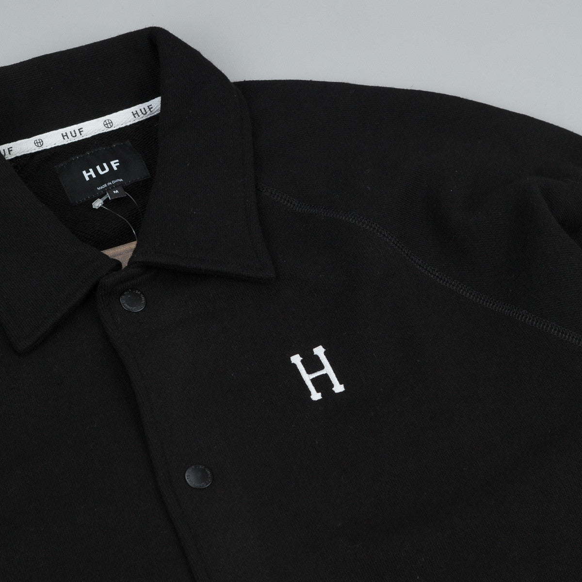 HUF Classic H Fleece Coaches Jacket - Black