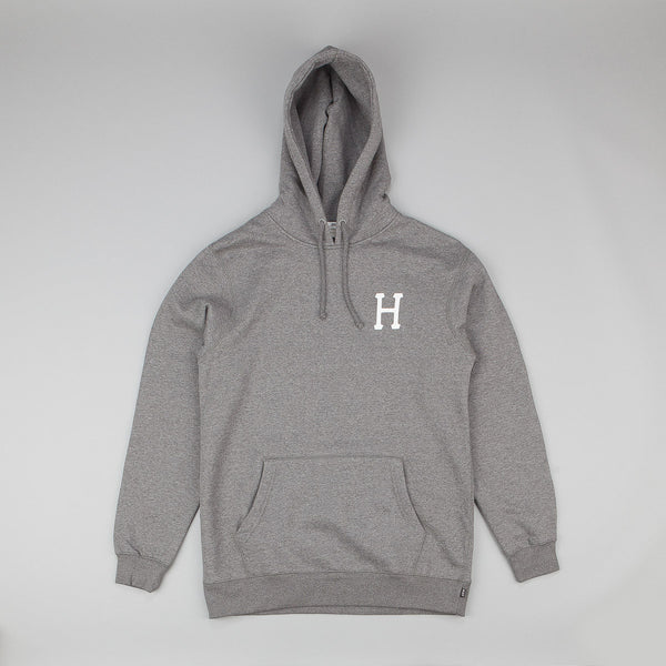 HUF Classic H Fleece Pullover Sweatshirt - Heather Grey