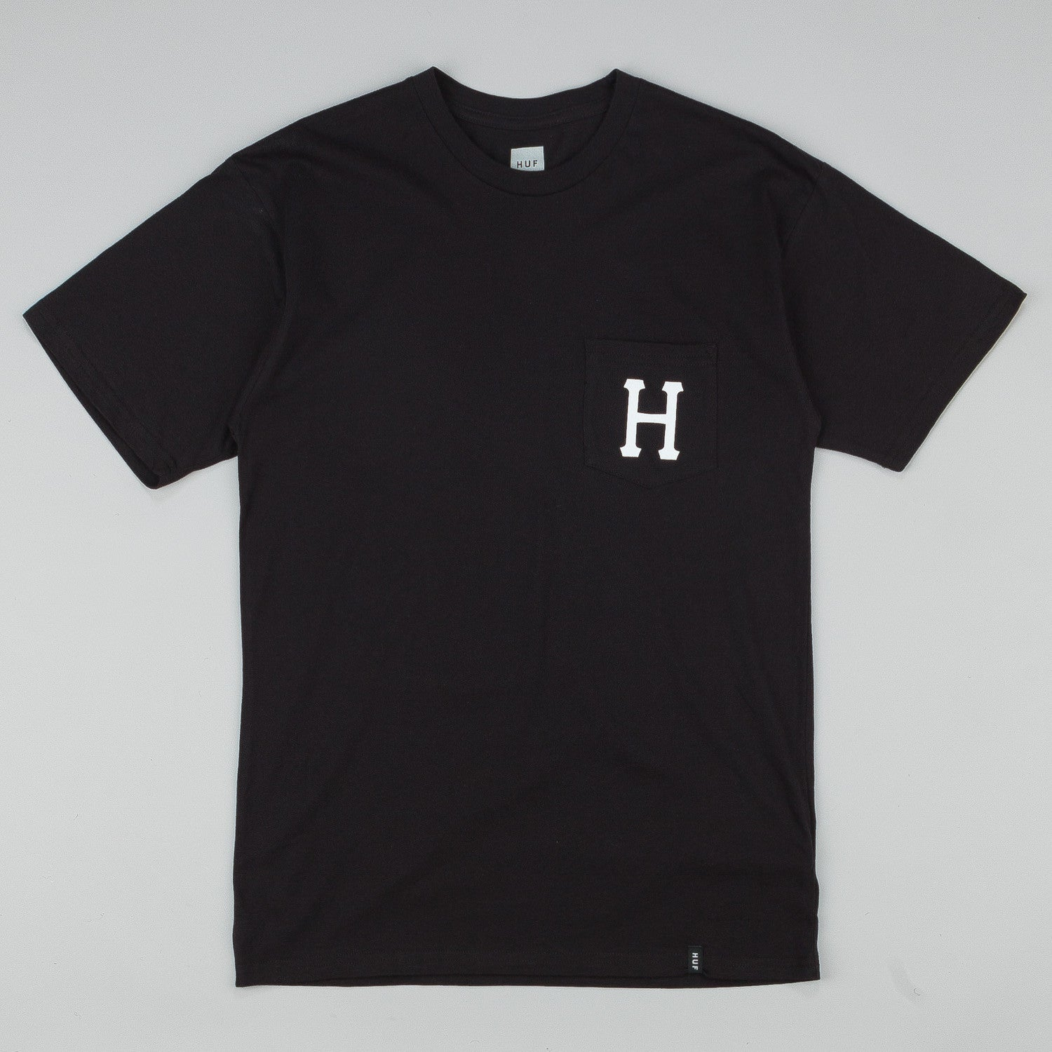 HUF Classic H Pocket T Shirt - Black / White
