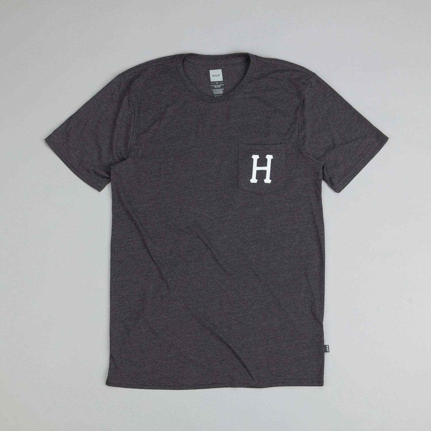 Huf Classic H Pocket T Shirt Charcoal Heather