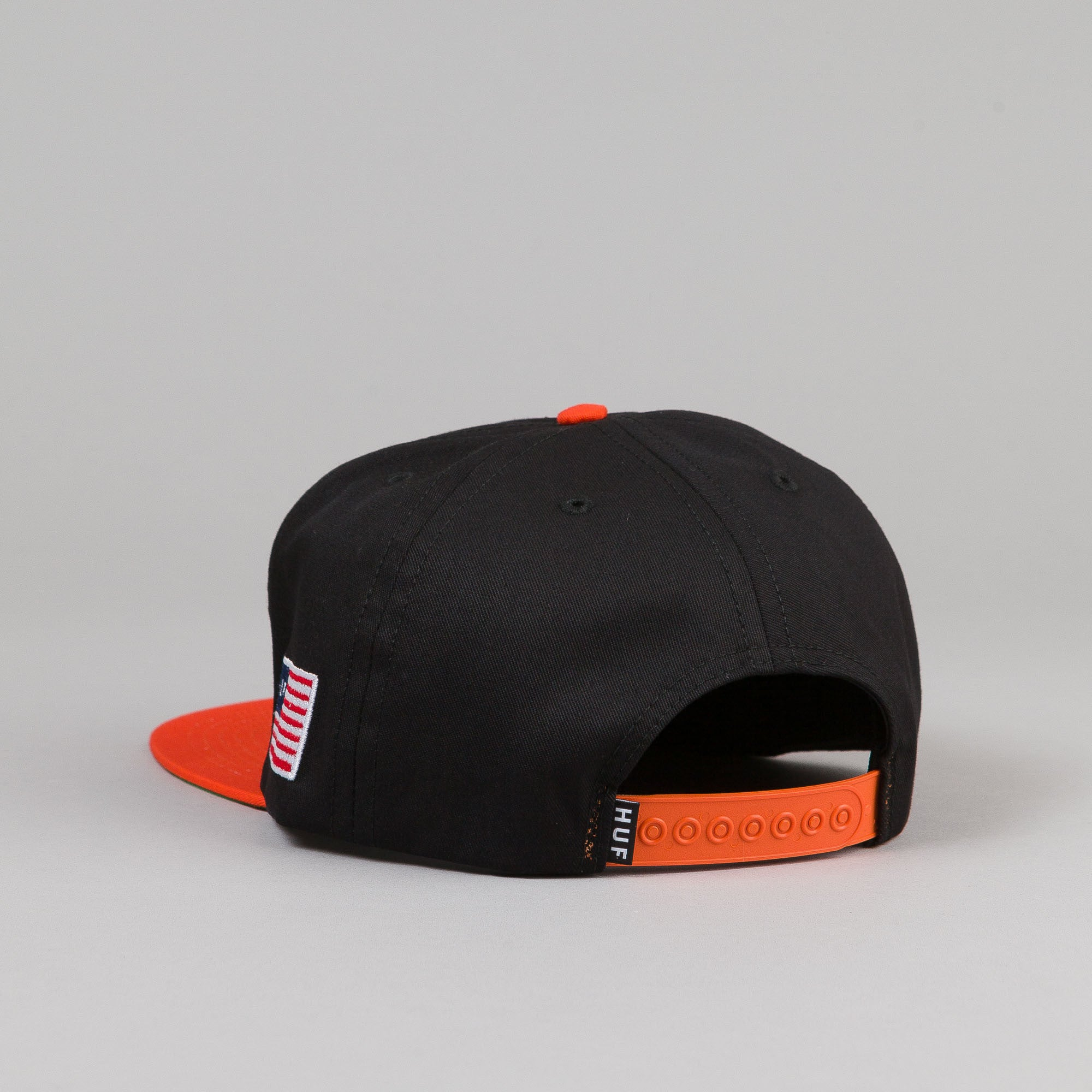 HUF Classic H Snapback Cap - Black / Orange