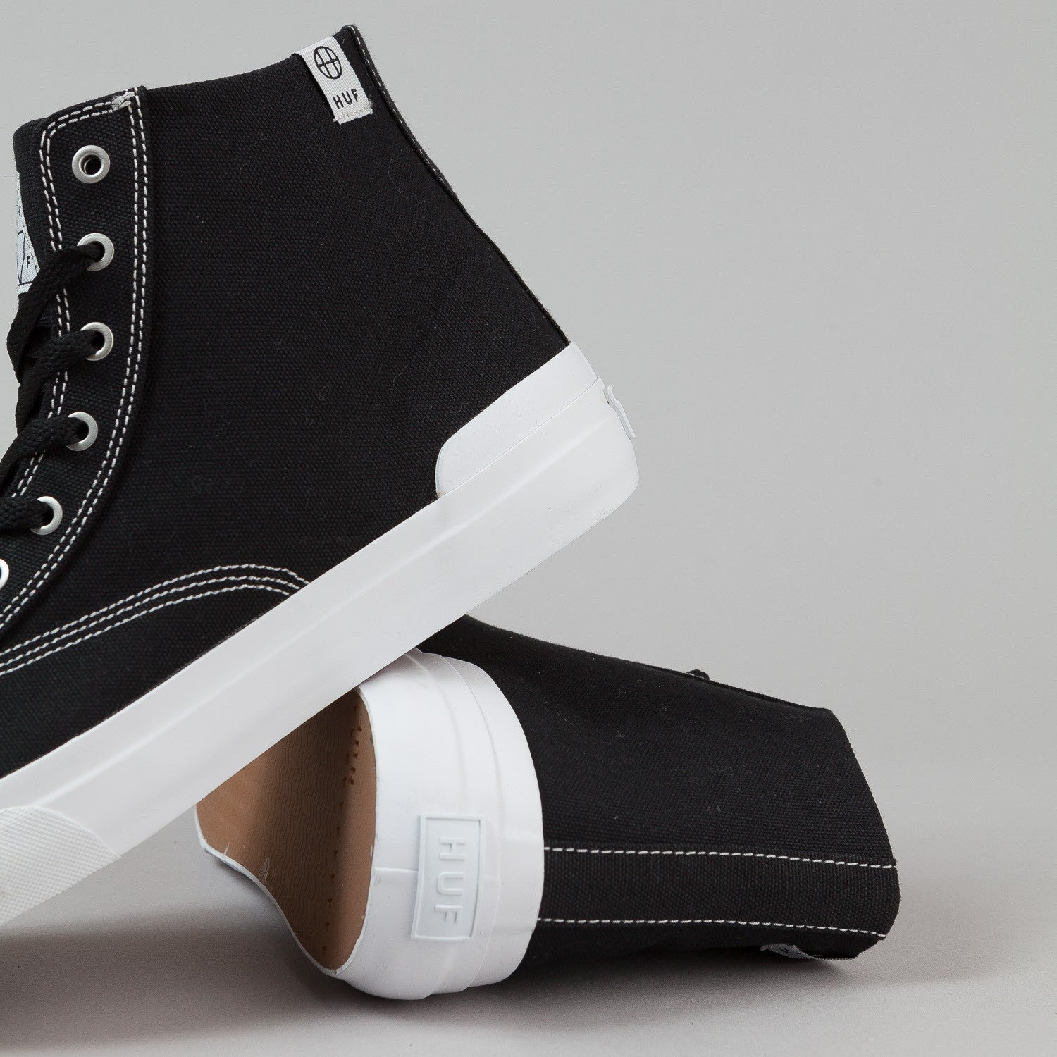 HUF Classic Hi Shoes - Black Canvas