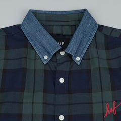 HUF Classic Plaid Long Sleeve Shirt - Blackwatch