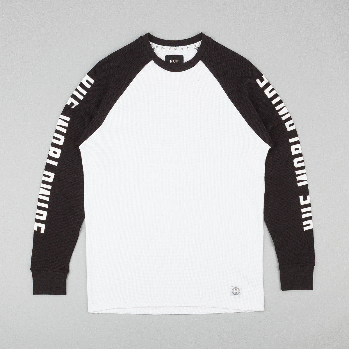 HUF Clement Long Sleeve Thermal Raglan Shirt - Black