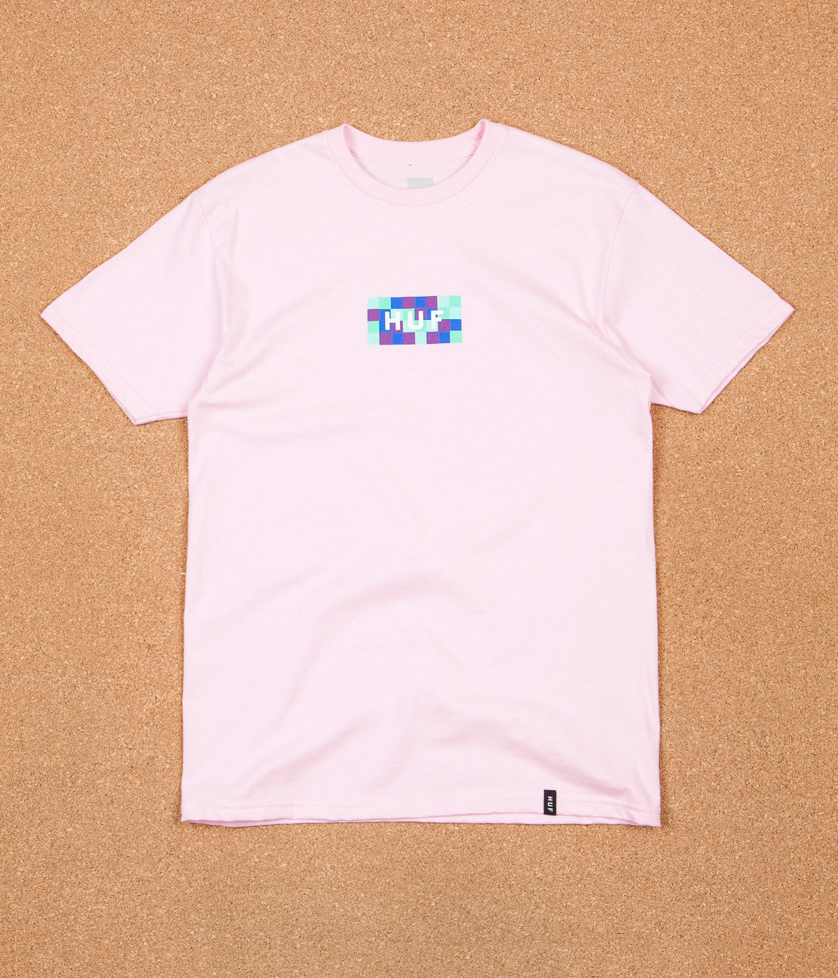 HUF Colour Block Bar Logo T-Shirt - Pink