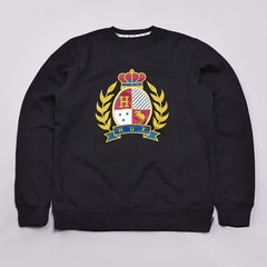 Huf Crested Crew Neck Sweatshirt Black