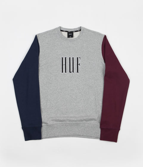 HUF Crevasse Crewneck Sweatshirt - Grey Heather