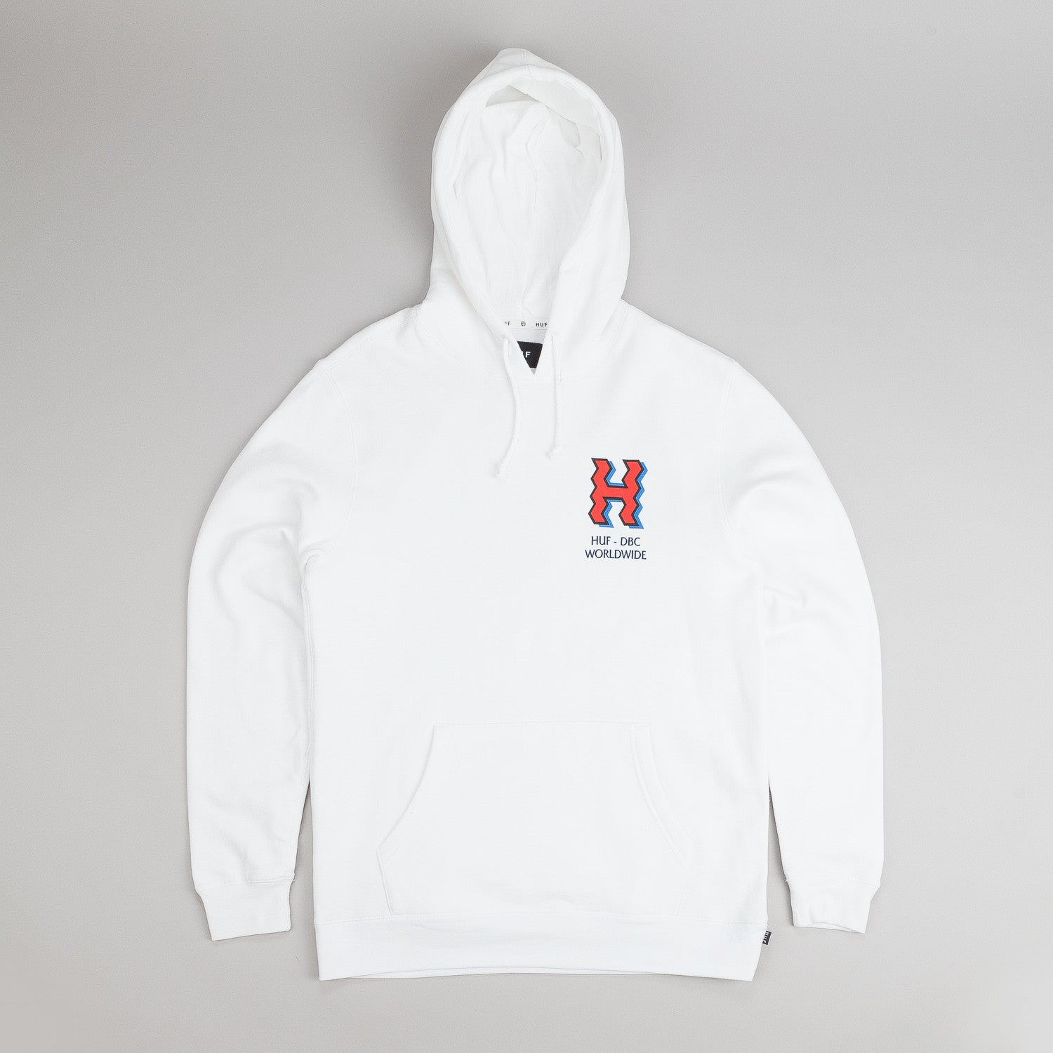 Huf Crooked H Hooded Sweatshirt  - White