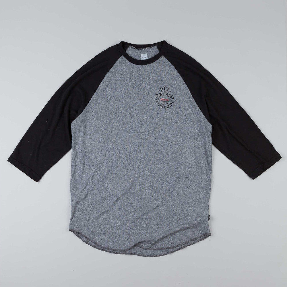 Huf DBC Seal Raglan T Shirt Heather Grey / Black