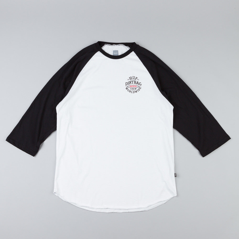 Huf DBC Seal Raglan T Shirt White / Black
