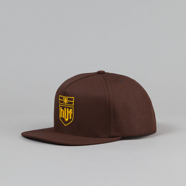 HUF Delivery Snapback Cap - Brown