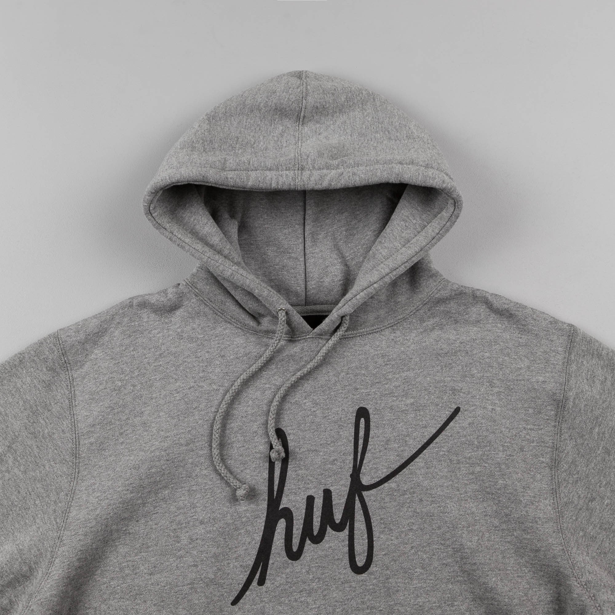 HUF Demi Script Hooded Sweatshirt - Grey Heather