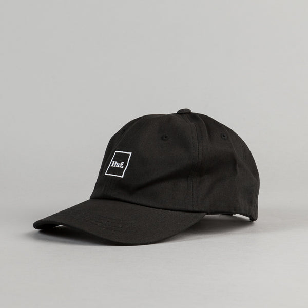 HUF Domestic Box Logo Cap - Black / White