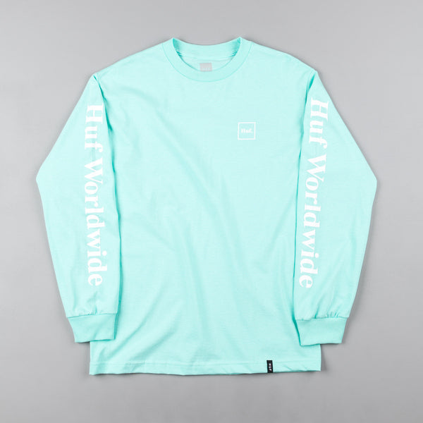 HUF Domestic Long Sleeve T-Shirt - Celadon / White
