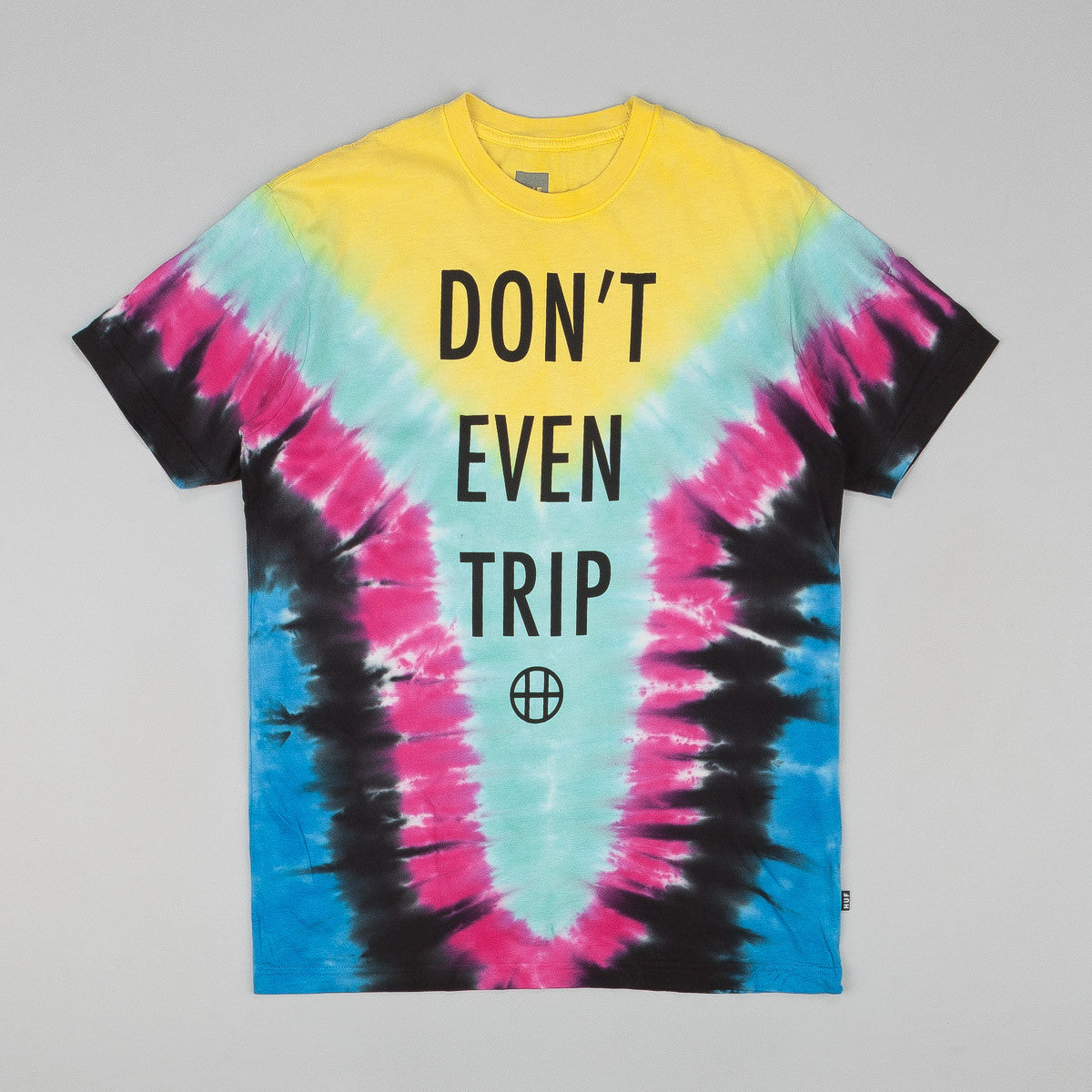 Huf Dont Even Trip T Shirt Yellow