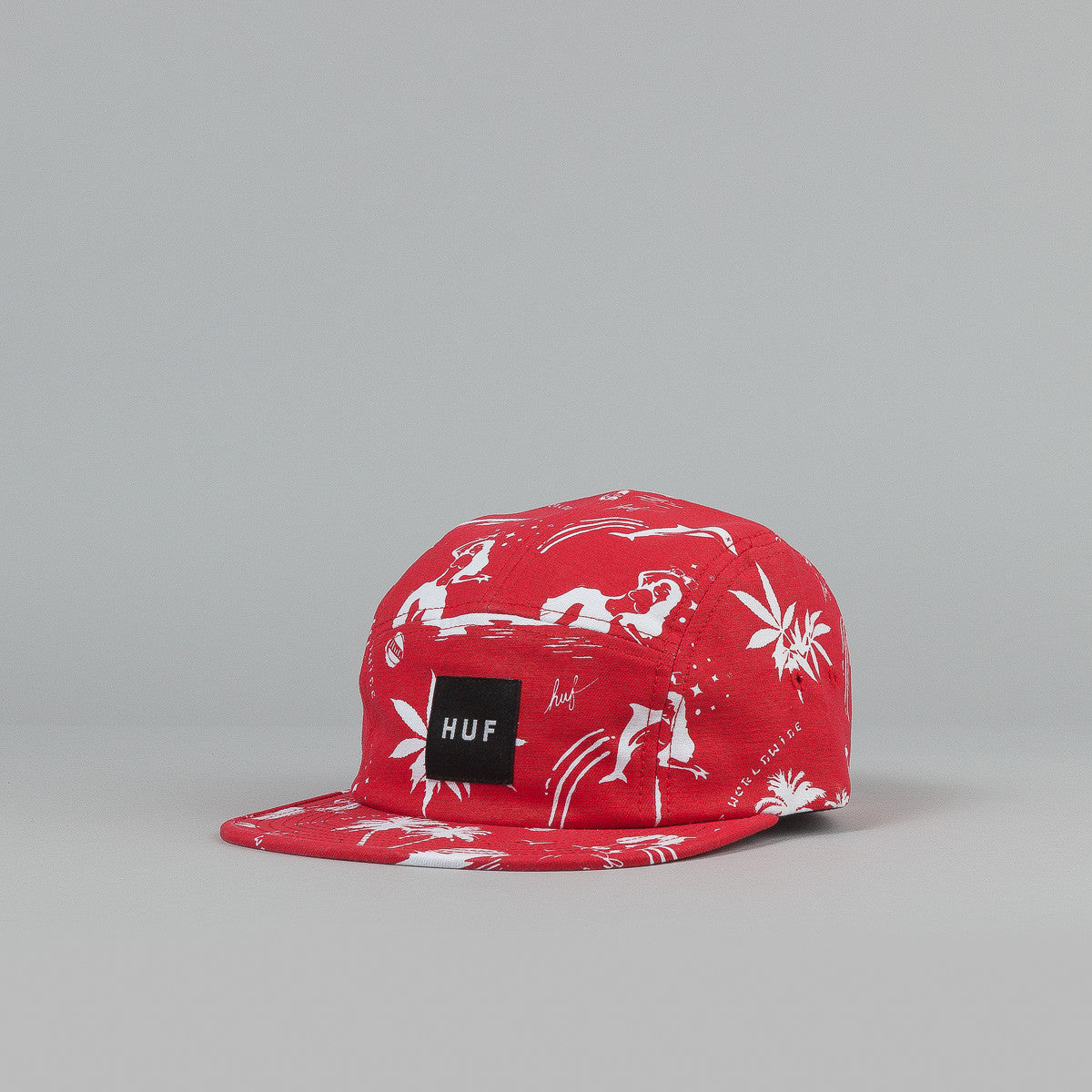 Huf Drunk Aloha 5 Panel Cap Red
