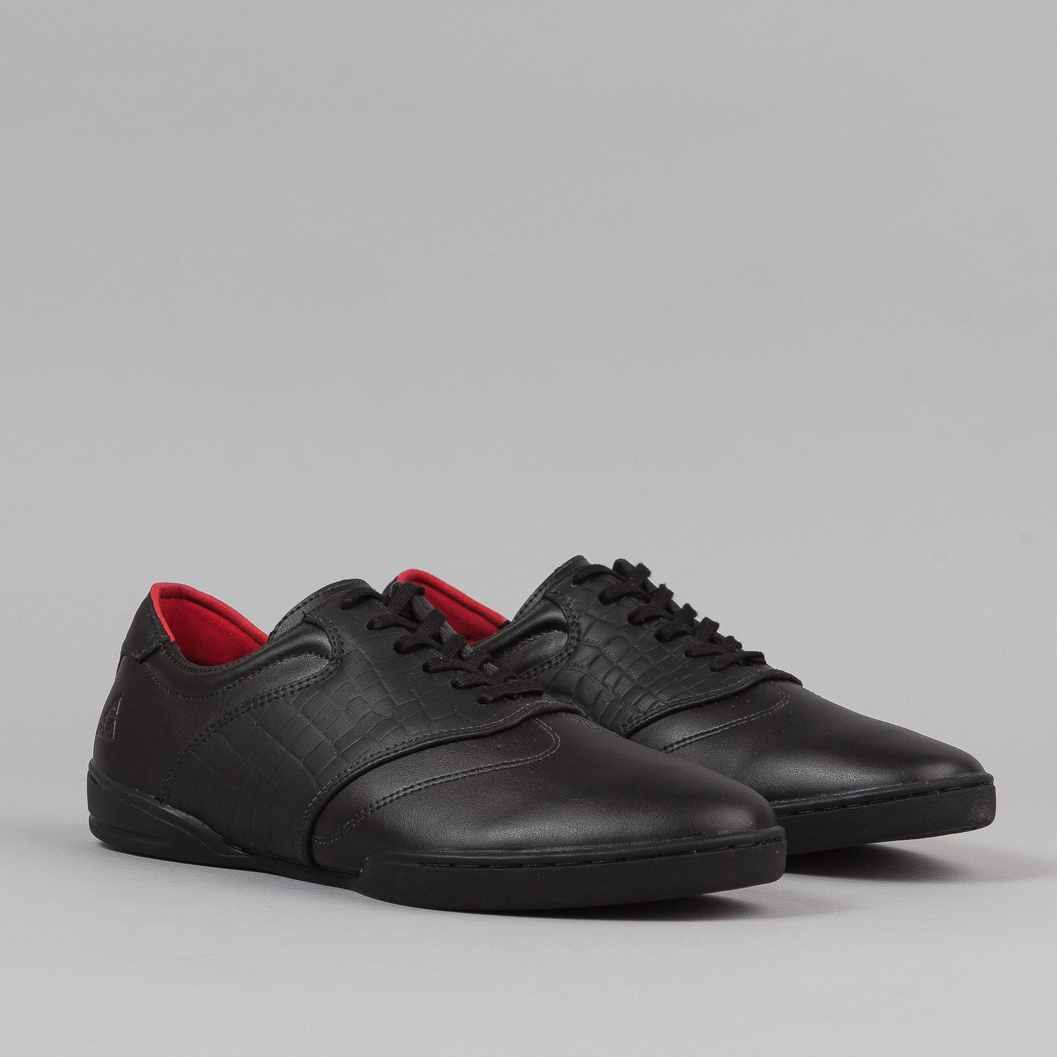 HUF Dylan Shoes - Black Leather / Croc