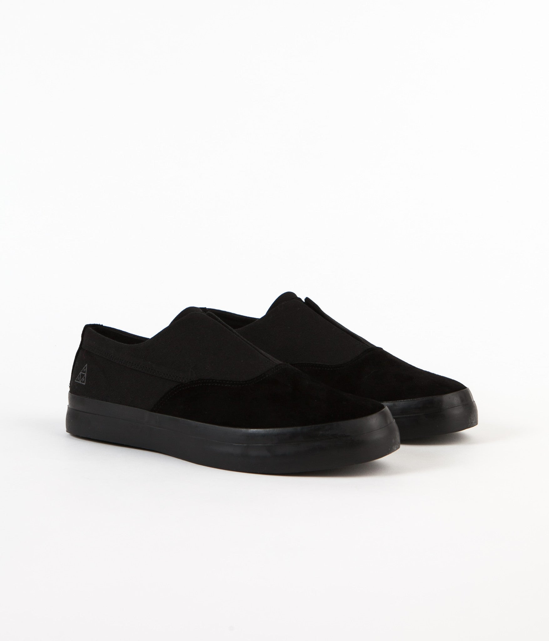 HUF Dylan Slip On Shoes - Black / Black