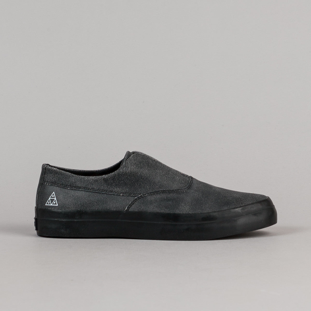 HUF Dylan Slip On Shoes - Black Cracked
