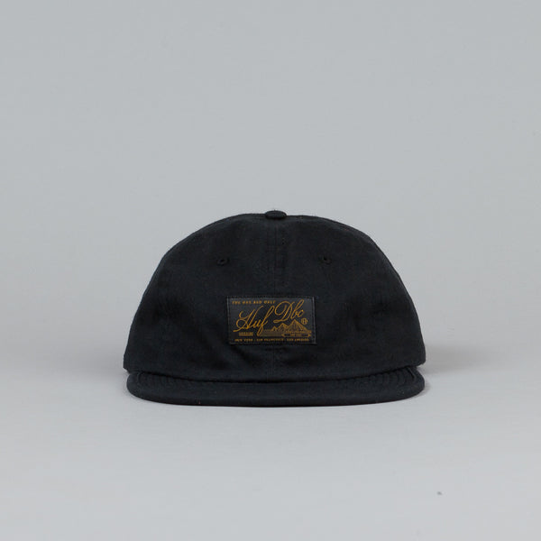 Huf Expedition Waxed 6 Panel Cap Black