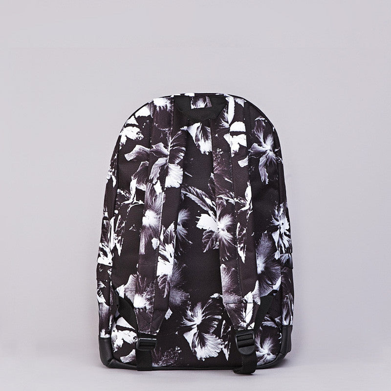 HUF Floral Backpack Black