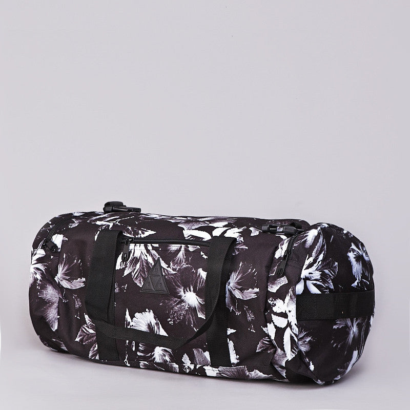 Huf Floral Duffle Bag Black