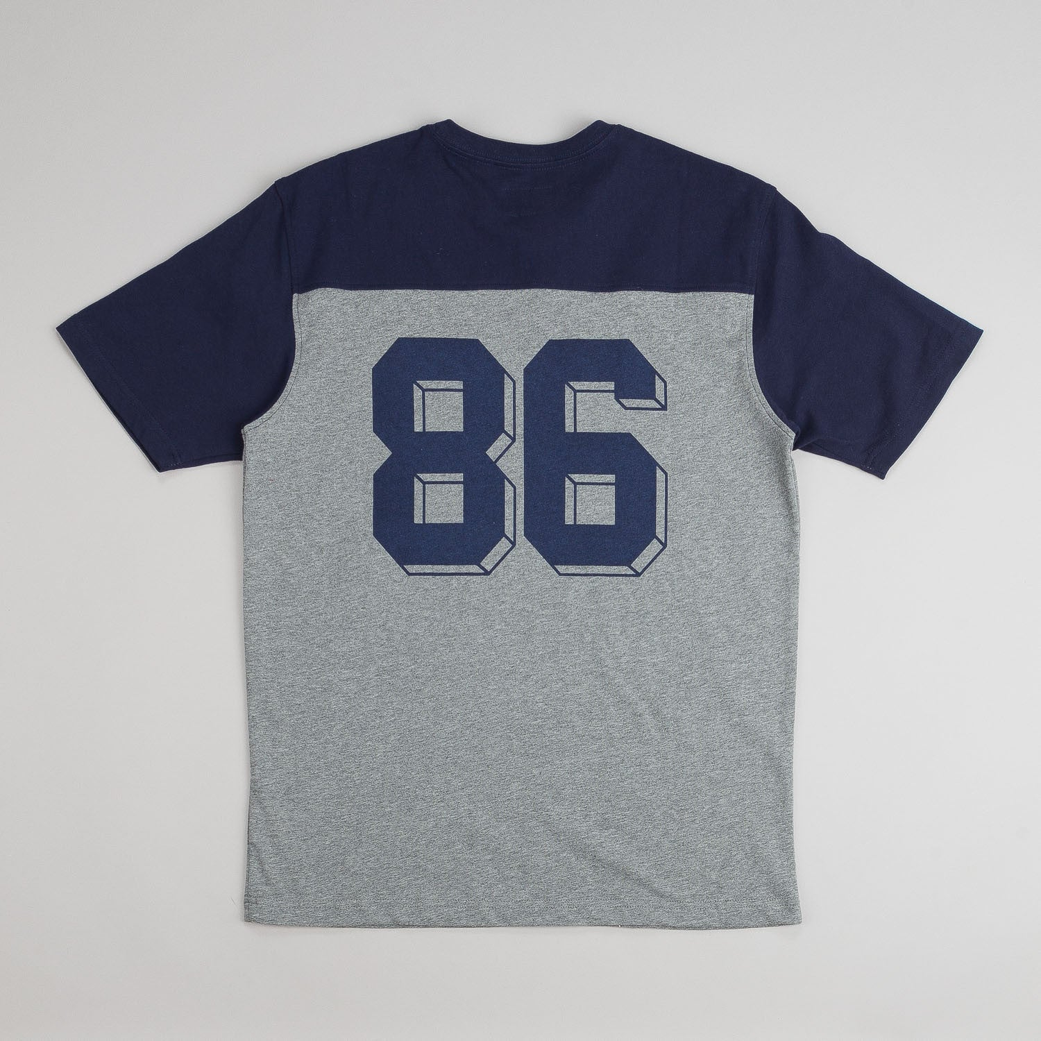 HUF Franco Short Sleeve Football Jersey - Navy / Grey Heather