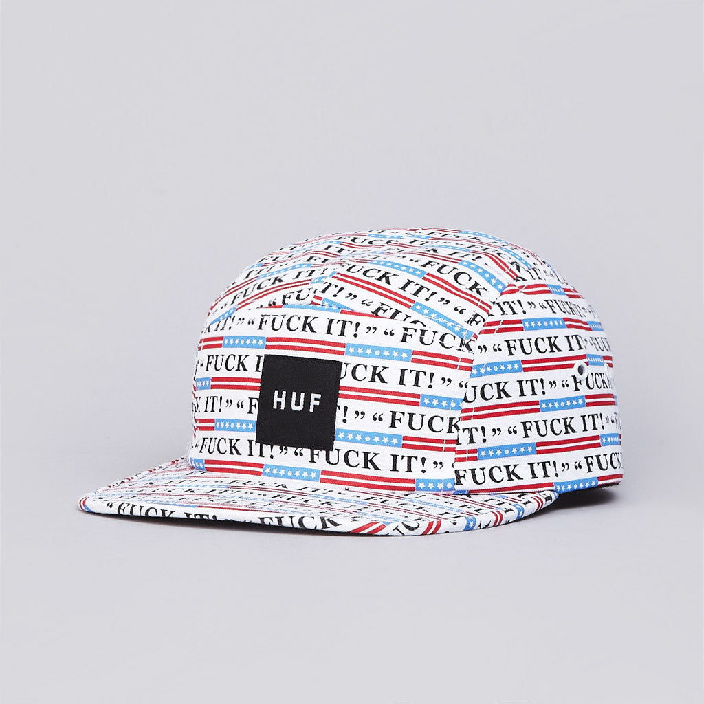 Huf Fuck It 5 Panel Volley Cap All Over Print
