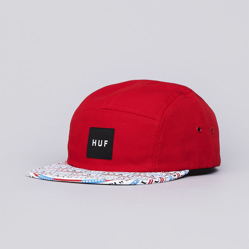 Huf Fuck It 5 Panel Volley Cap Red