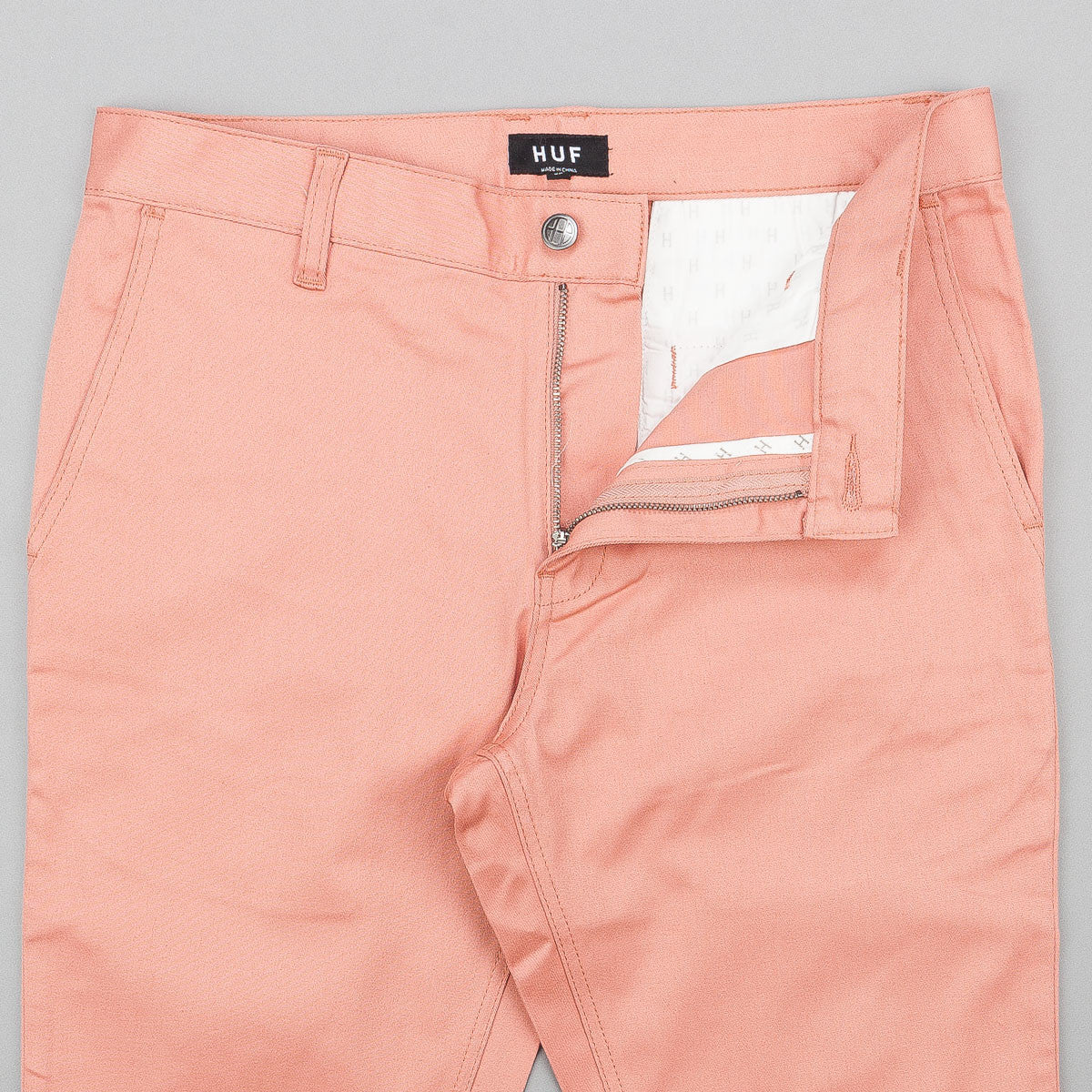 HUF Fulton Slim Chino Trousers - Smoked Pink