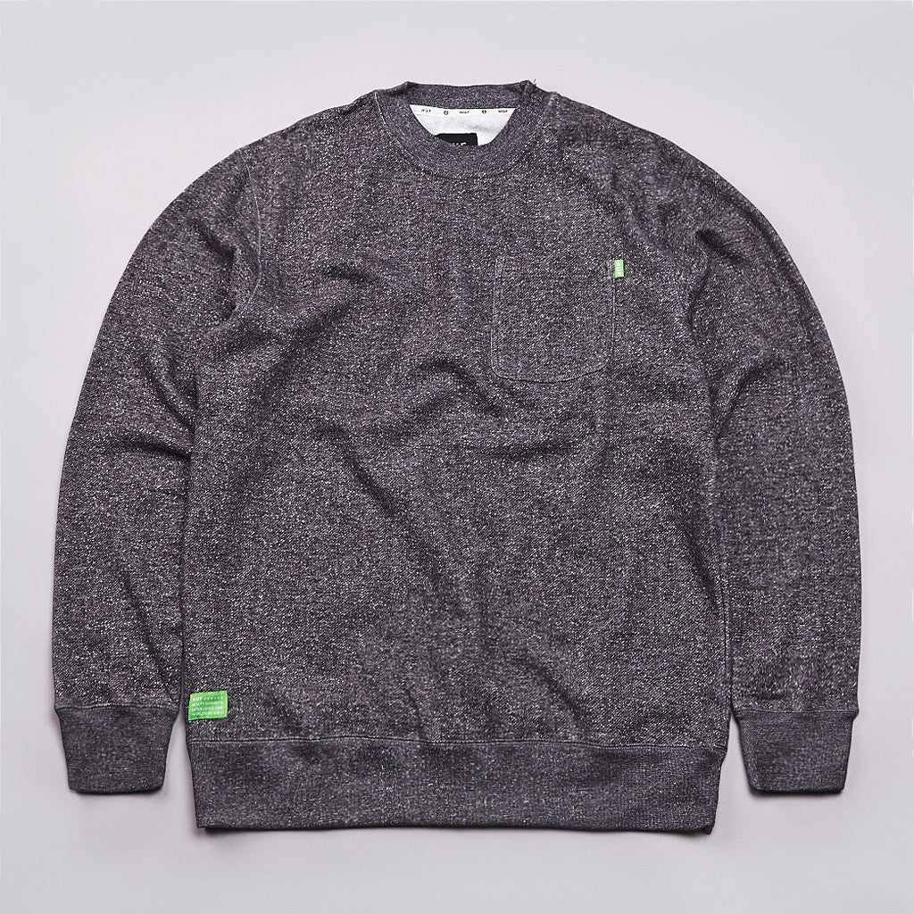 Huf Granite Pocket Crew Sweatshirt Granite Heather