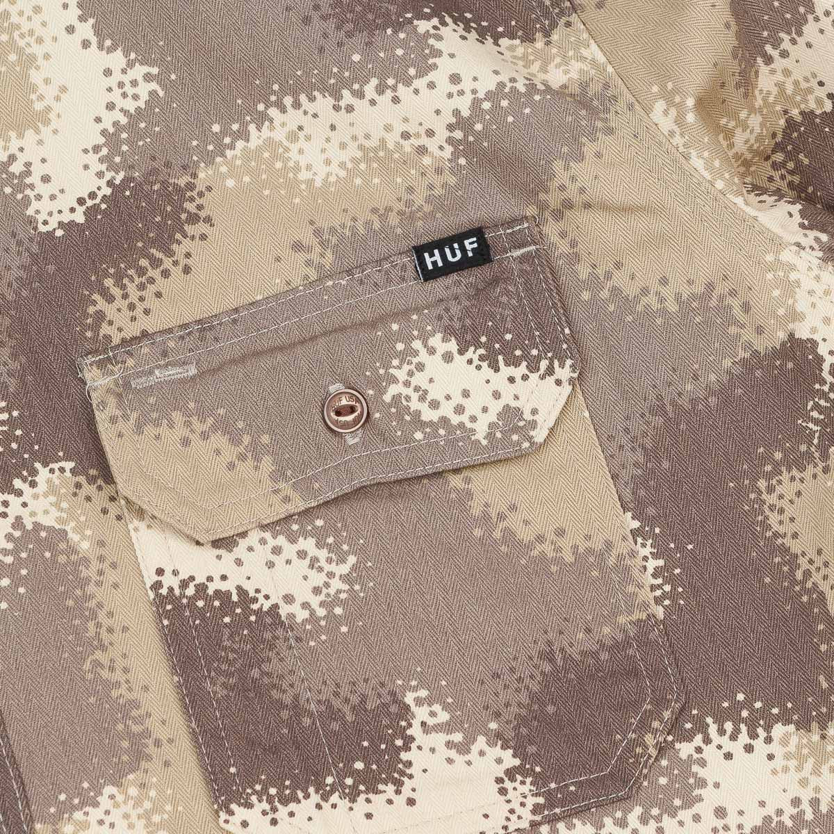 HUF HBT Work Shirt Desert Spray Camo