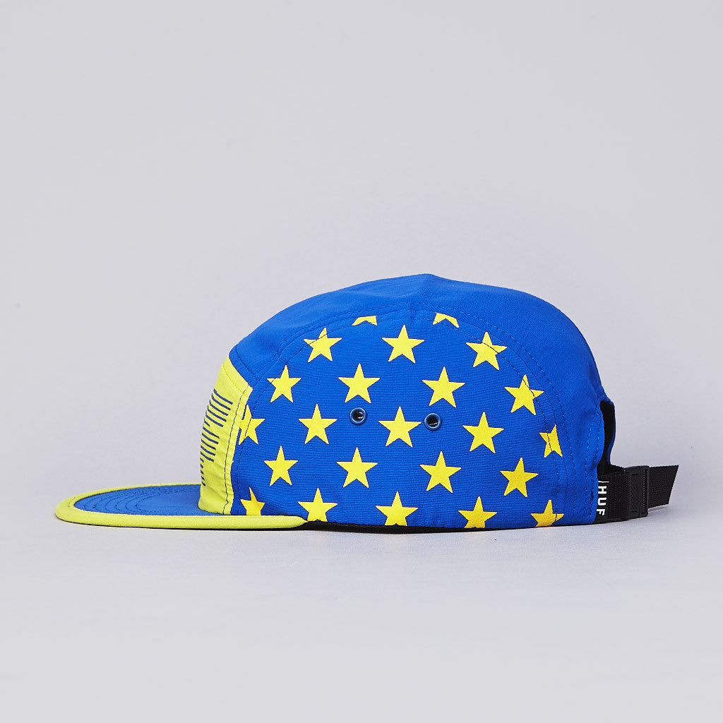HUF Hell Track Volley Cap Blue / Yellow