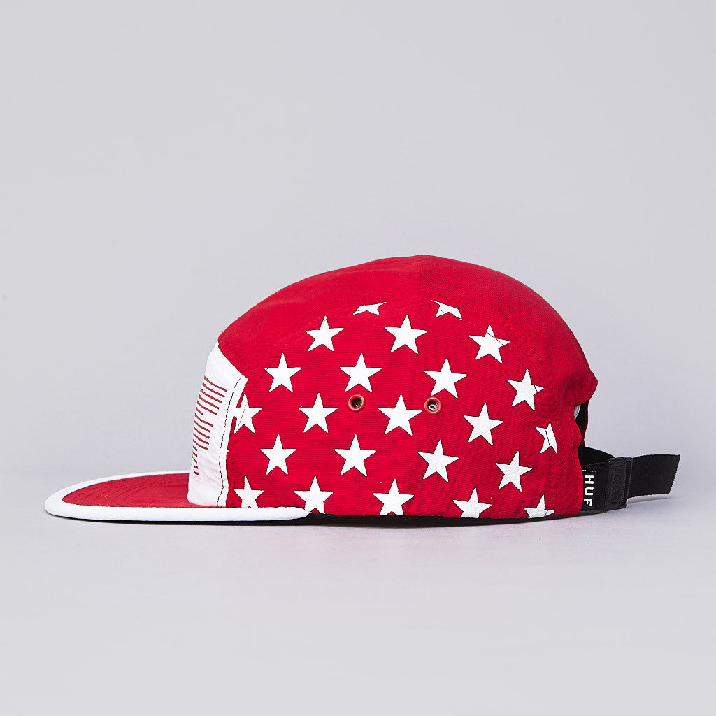 HUF Hell Track Volley Cap Red / White