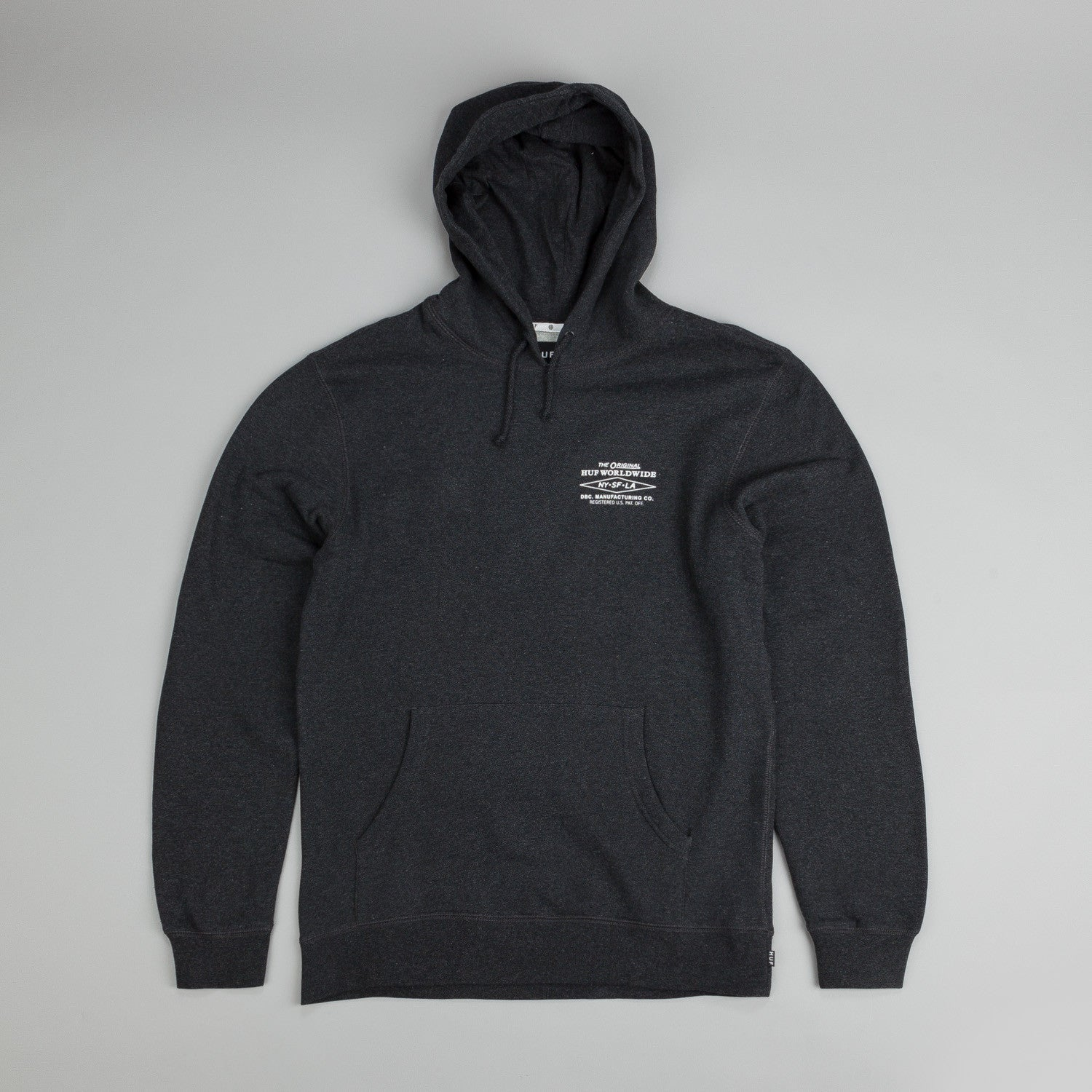 Huf Heritage Hooded Sweatshirt Charcoal Heather