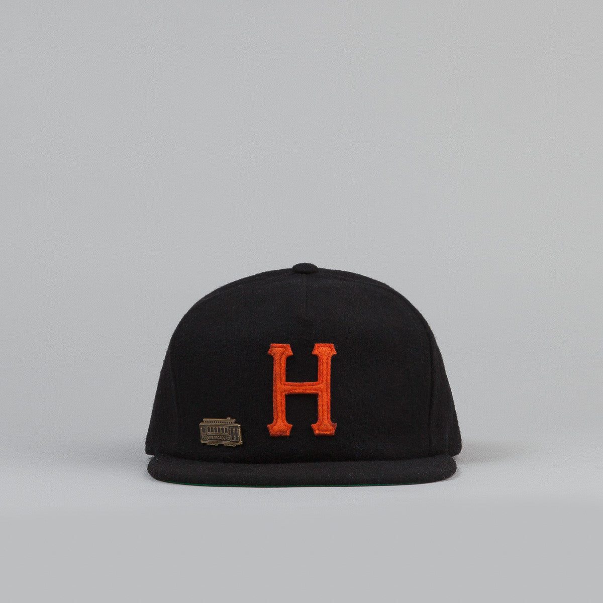 HUF Home Field Wool Strapback Cap - Black