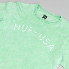 HUF USA Washed T-Shirt - Light Green