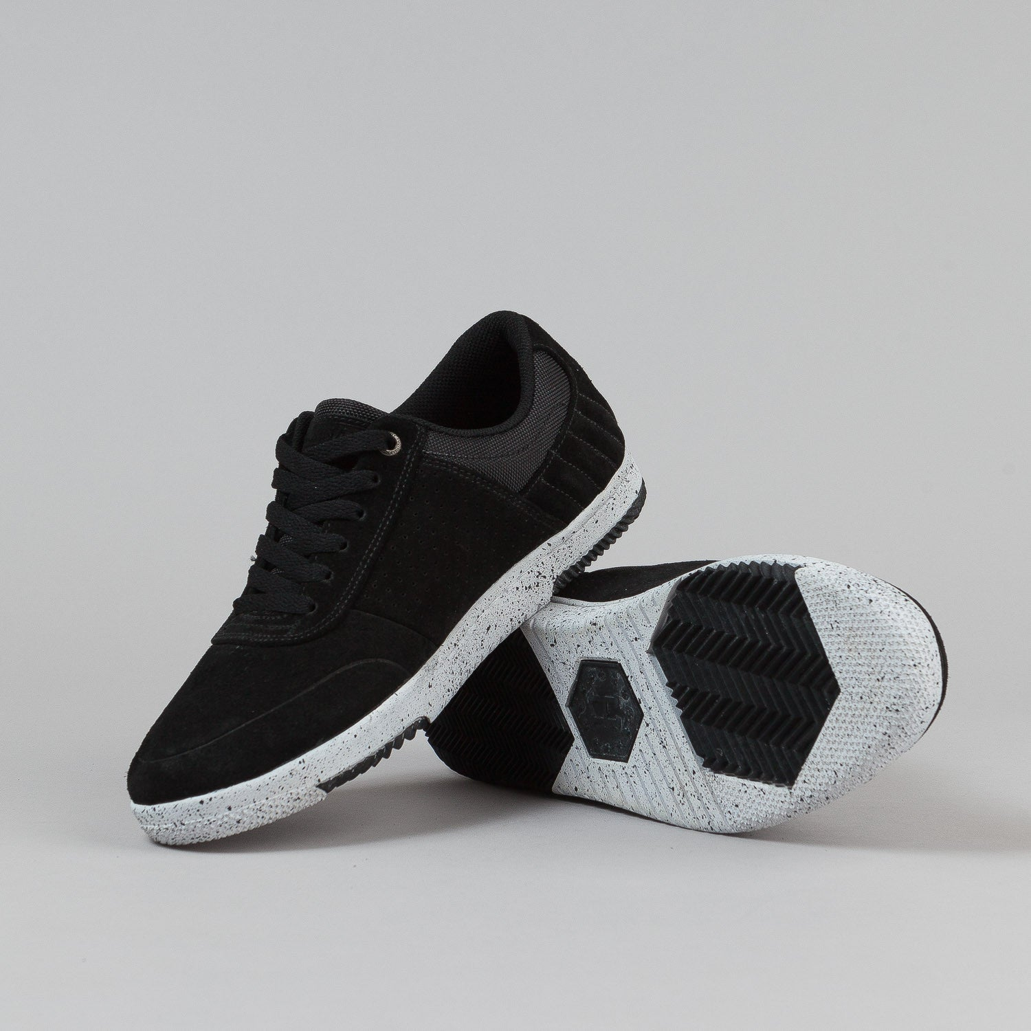 HUF HUFnagel 2 Shoes - Black / Bone White Speckle