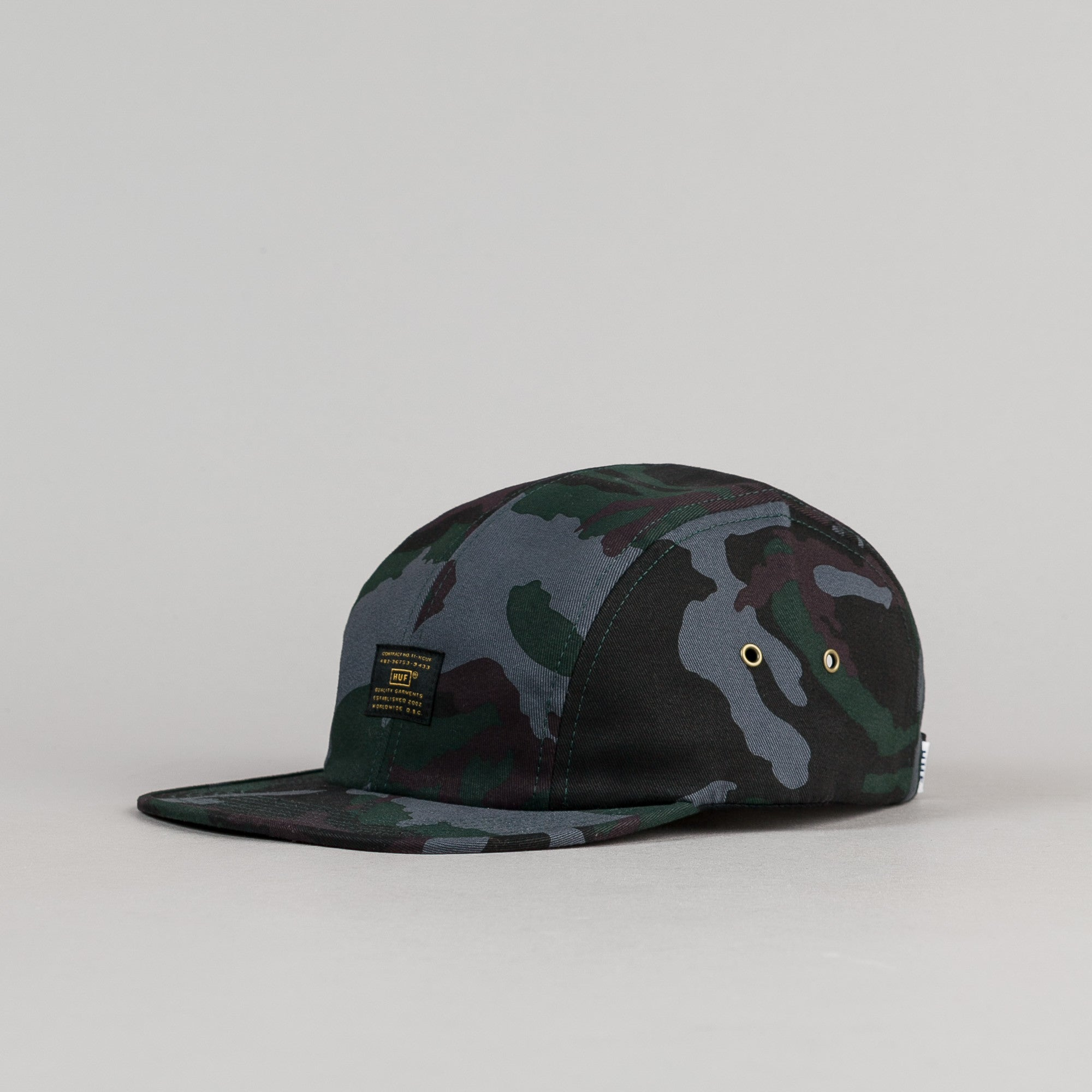 HUF Issue 4 Panel Volley Cap - Woodland Camo