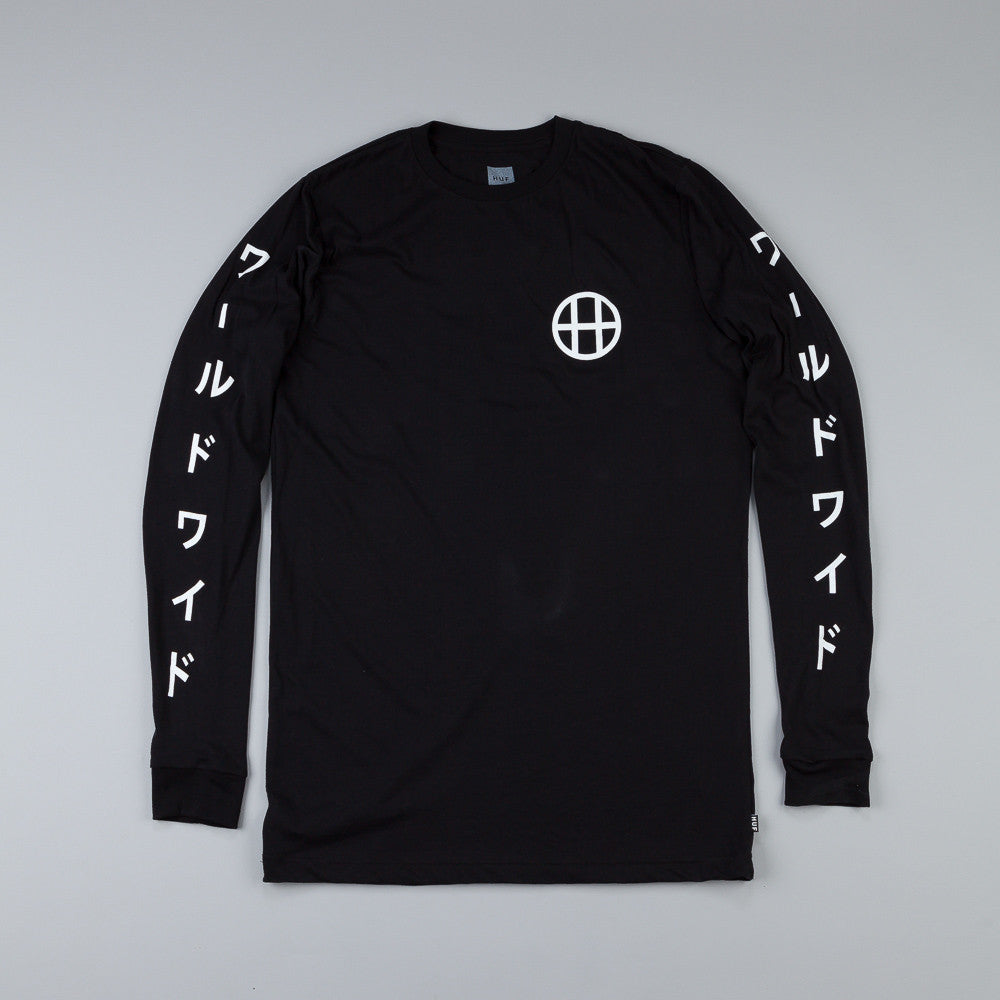 Huf Japan Worldwide Long Sleeve T Shirt Black