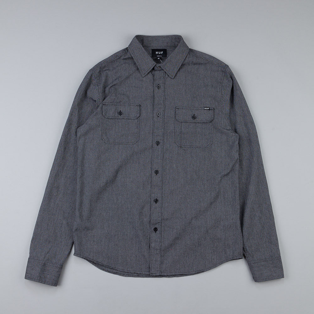 Huf Japanese Speckle L/S Woven Shirt Black