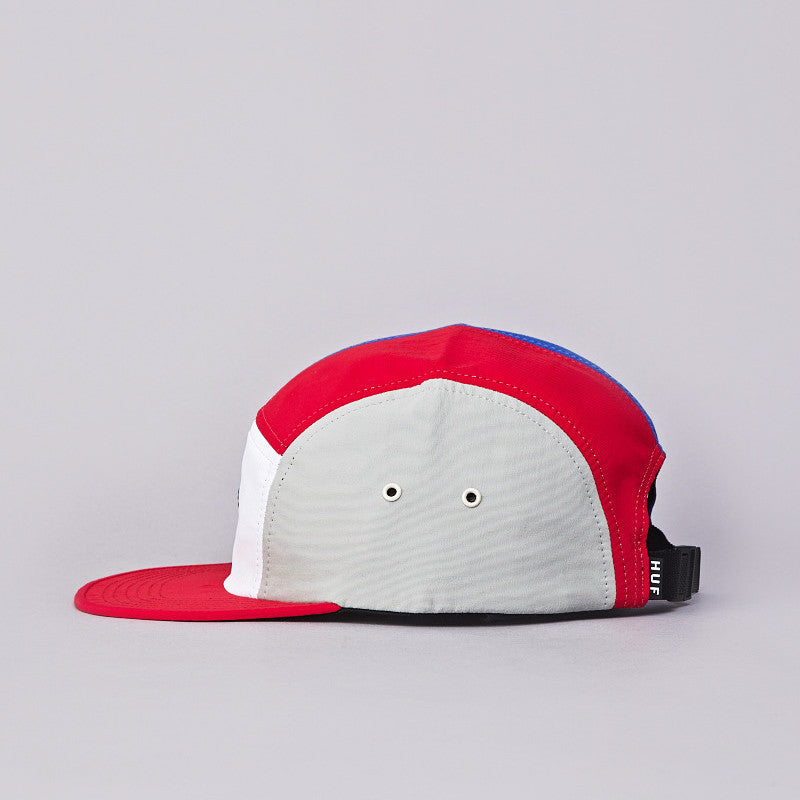 HUF Lo-Down 5 Panel Cap Red / White / Blue