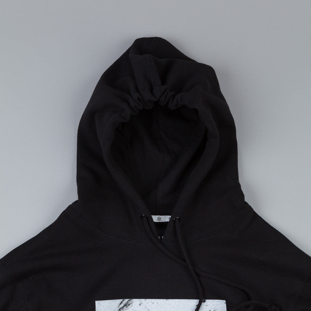 HUF Marble Box Logo Pullover Hooded Sweatshirt Black