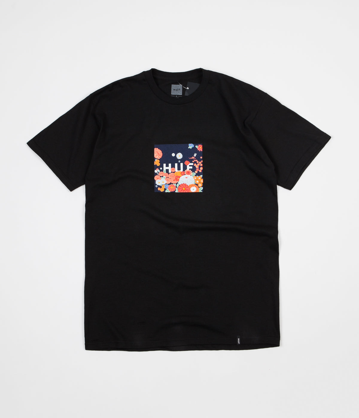 HUF Memorial Box Logo T-Shirt - Black