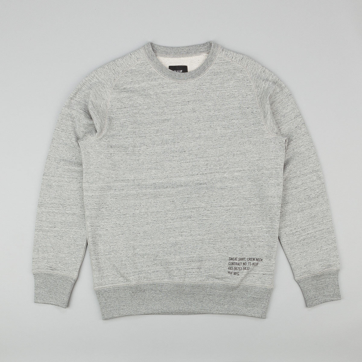 HUF Mil Spec Cadet Crew Neck Sweatshirt - Heather Grey