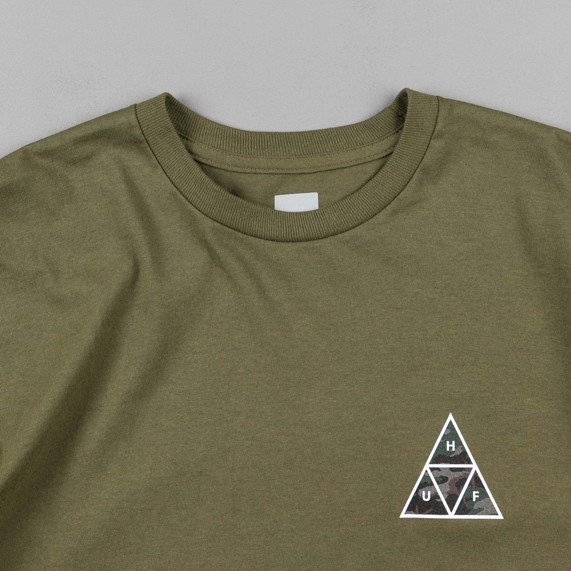 HUF Muted Military Triple Triangle T-Shirt - Military