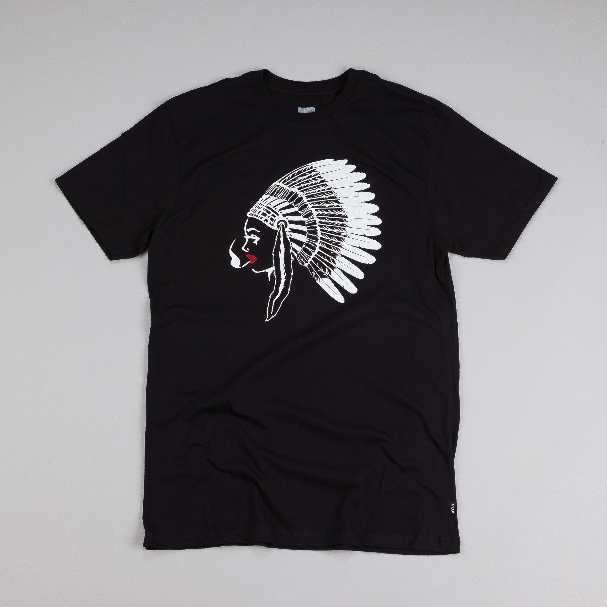 Huf Native Chick T Shirt Black