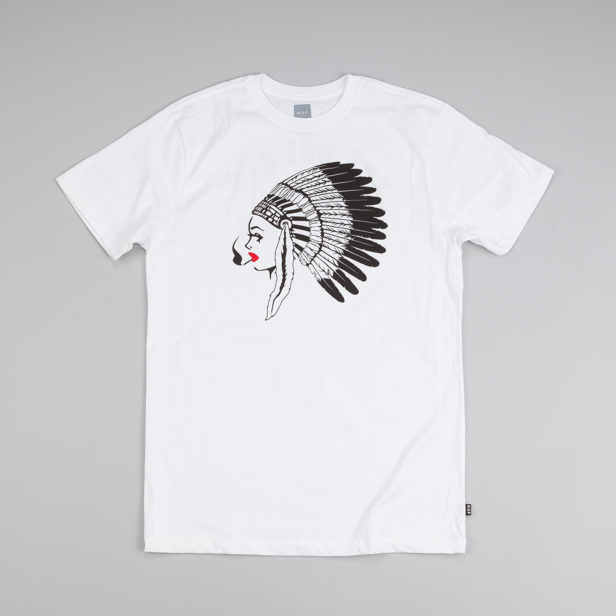HUF Native Chick T Shirt White