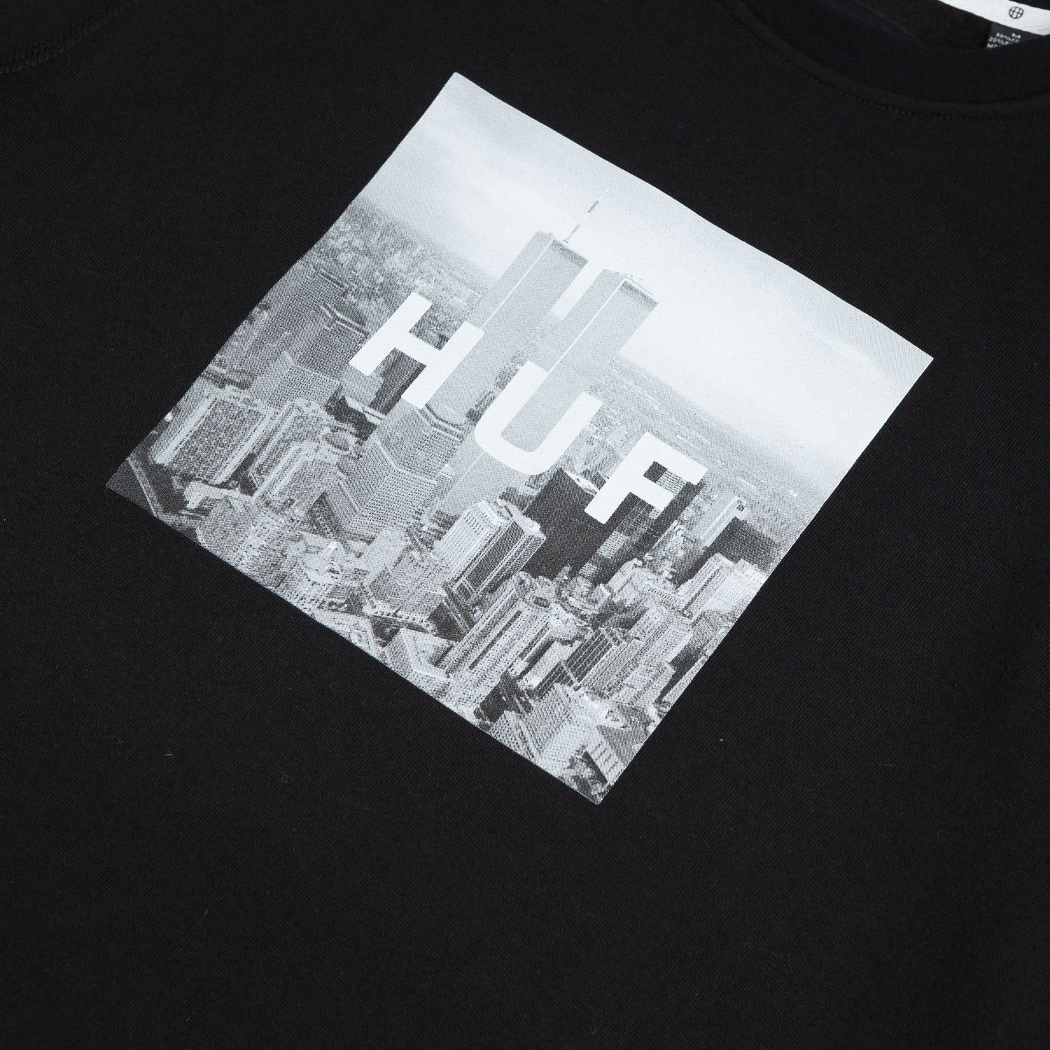 HUF New York Box Logo Crew Neck Sweatshirt - Black