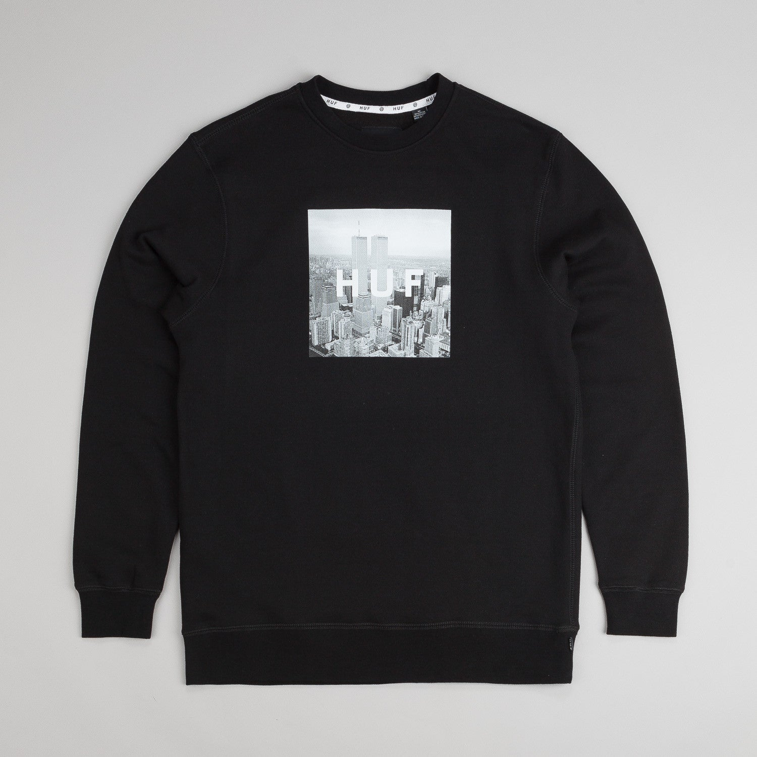 Huf New York Box Logo Crew Neck Sweatshirt